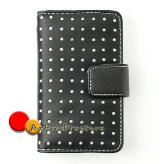leather wallet case cover protector pouch for apple ipod touch 4th 4g