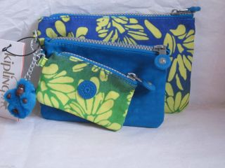 KIPLING IAKA POUCH Three Bags Cases Pouches Turquis Blue Green Yellow