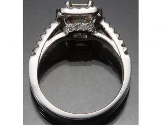 75 Ct Unique Asscher Cut VS1 Certified Diamond Engagement Ring 14k