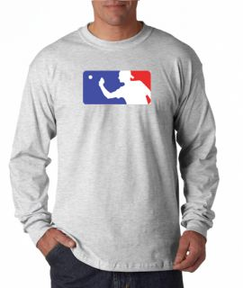 Beer Pong Official Logo Drinking Long Sleeve Tee Shirt