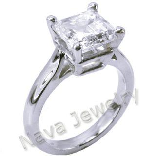 06 ct asscher cut diamond engagement ring