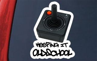 Atari Keeping It Oldschool Controller Sticker Decal Old School Video