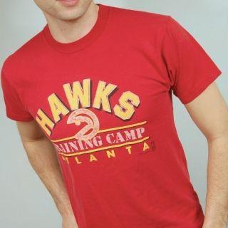Vintage ATLANTA HAWKS TRAINING CAMP t shirt MEDIUM NBA Basketball 80s
