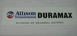 Allison,Transmission,Duramax,Deisel,GM,Chevolet,Alum.Sign,6x24
