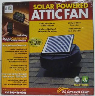 US Sunlight Corp 1010TRS 1 350SQ ft Solar Powered Attic Fan