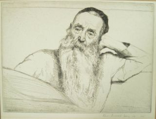 William Auerbach Levy Original AP Etching 1915 Listed