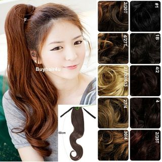 Long Hair Piece Hairpieces Blonde Black Brown Auburn Red Wavy