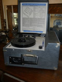 VINTAGE CALIFONE 1030AV PORTABLE RECORD PLAYER W TRAKLITE WORKS