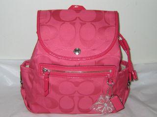 NEW NWT COACH Kyra Backpack $298 bag purse tote pink Hibiscus Handbag