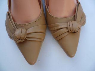Audrey Brooke Ladies Dress Shoes Ligh Naural Size 9 5M