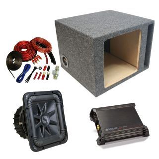 Kicker Car Audio 12 Single S12L5 L5 Square Ported Subwoofer Sub Box