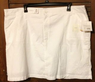 NWT Croft Barrow White Skorts Size 24W