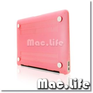 New Arrivals Rubberized Pink Hard Case Cover for MacBook Air 13 A1369
