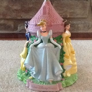 Disney World Princess Cinderella Belle Snow White Aurora Piggy Bank