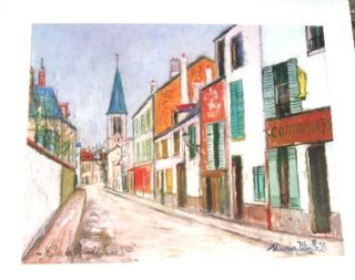 Print Of Painting By Maurice Utrillo: Eglise De Stains, Seine