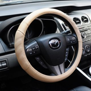 Slip Soft Sport Genuine Leather Auto Car Steering Wheel Cover