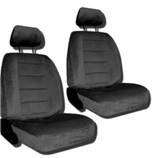 Charcoal Grey Car Auto Truck Seat Covers w Head rest Covers 4
