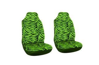 Tiger Zebra Animal Print Integrated High Back Front Car Seat Cover Set