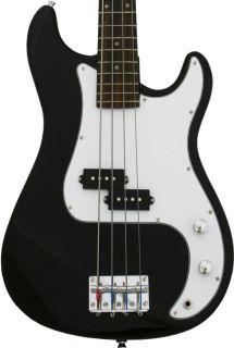 New Crescent Black Electric Bass Guitar Combo Strap Gigbag 15W Amp