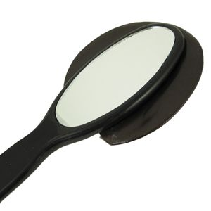 Hand Mirror Awake Face Brunette Fuchsia Headband Makeup