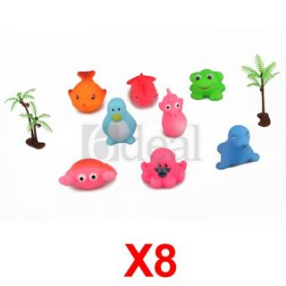 Set 8 Baby Toddler Kids Bath Float Animals Toys Xmas Gift