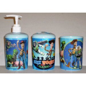 Disney Pixar Toy Story 3 Piece Bathroom Accessories Set