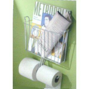 Toilet Mount Home Decor Magazine Rack Bathroom Shelves CA