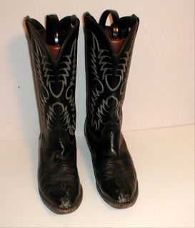 Mens Size 12 B Larry Mahan Western Cowboy Boots