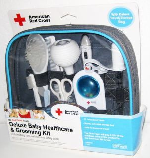 NEW AMERICAN RED CROSS DELUXE BABY HEALTHCARE GROOMING SET Thermometer