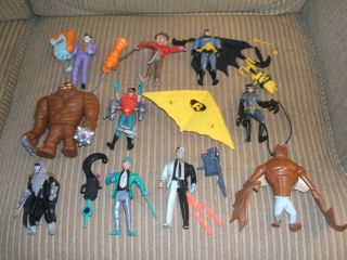 Lot 11 Batman Animated Series Action Figures Clayface Two Face Joker
