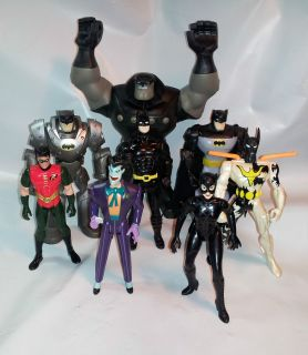 Lot of 8 Batman Figures Batman Joker Rubberneck Catwoman and Robin