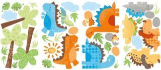 New Dinosaurs Wall Decals Dinosaur Stickers Kids Bedroom Baby Boy