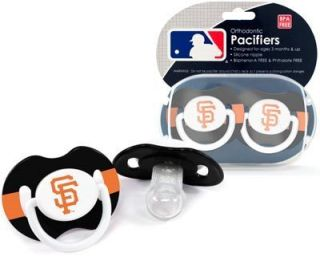 Francisco Giants Pacifiers 2 Pack Set Infant Baby Fanatic BPA Free MLB