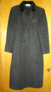 LADIES MISSES ASHLEY SCOTT SZ SMALL S WOOL FULL LENGTH VELVET COLLAR