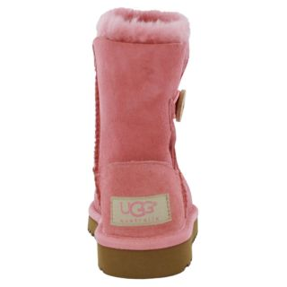 UGG Australia Boots Shoes Kids Bailey Button Light Pink Sheepskin