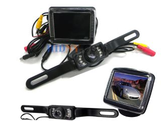 License Plate Rear View Reverse Backup Camera 3 5 LCD Monitor