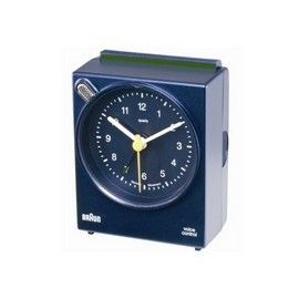 Braun 66008 Battery Operated Quartz Alarm Clock Blue