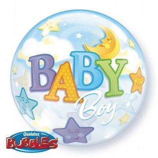Baby Boy Baby Shower Bubbles Balloon Party Decorations