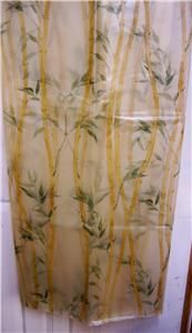 shower curtain bamboo garden with green leaves peva