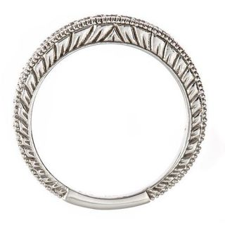 Blue Diamond Womens Wedding Anniversary Band Ring Antique Style 10K