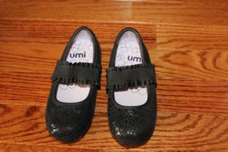 UMI baby girl toddler shoes flats ballets black leather size US 8 M
