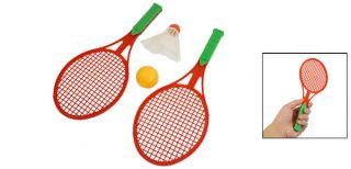 Red Frame Nonslip Handle Badminton Shuttlecock Rackets Table Tennis