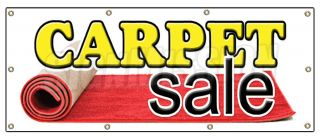 36x96 Carpet Sale Banner Sign Store Carpeting Signs Rugs Wall to