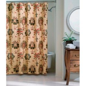 Bay Linens Dianne Morris Coco Bay Tropical Palm Trees Fabric Shower