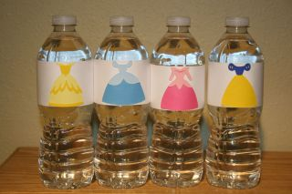 Princess Water Bottle Wraps Cinderella Snow White Aurora Belle
