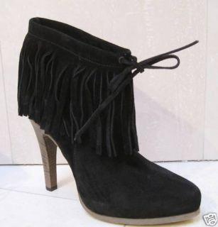 Barbara Bui Short Suede Fringe Shoes Boots 39