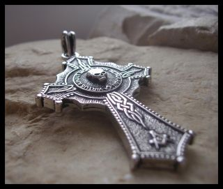 AJS © Masonic Skull Mason Pendant Cross Knights Templar Double Sided