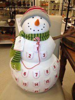 Pottery Barn Kids Plush Snowman Advent Countdown Calendar