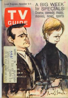 TV Guide 11 5 1966 Man from Uncle Barbara Parkins Peter Ustinov Alice