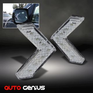 Turn Signal Arrow White Lights Side View Mirror Instant Upgrade